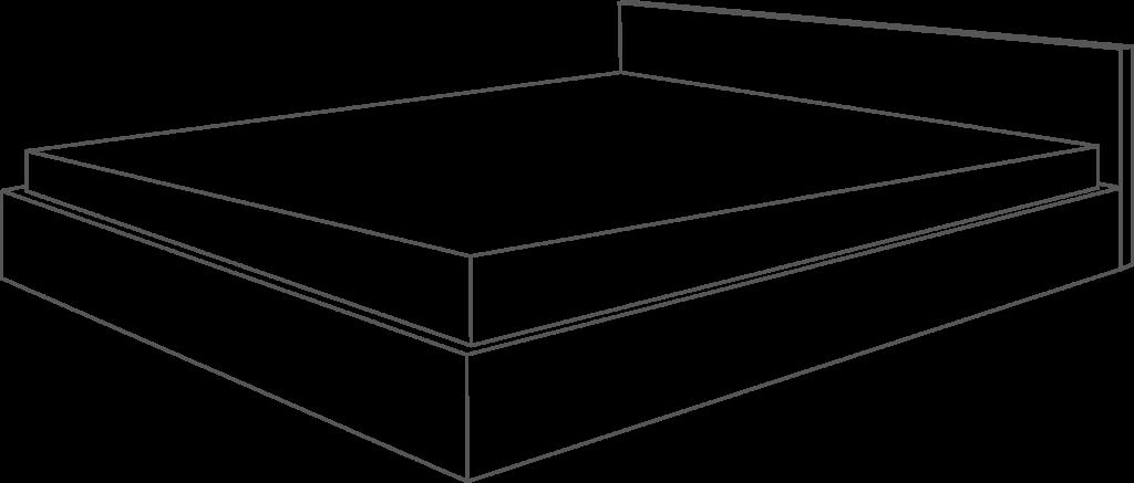 Liniengrafik Bettenmodell