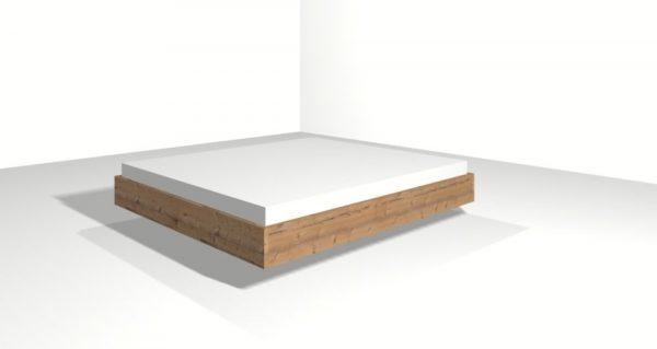 Liniengrafik Bett Modell Purist